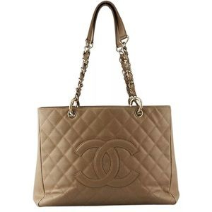 Auth Chanel Shopper tote bag